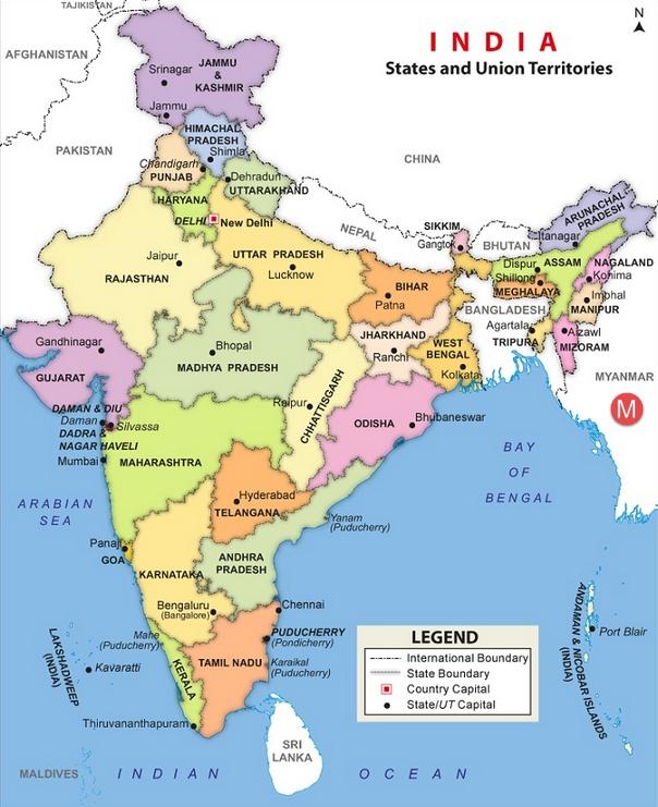 84437478India Map Myanmar